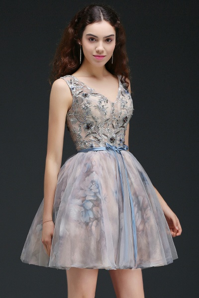 Wonderful Straps Satin A-line Homecoming Dress_7
