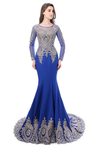 Beautiful Jewel Stretch Satin Mermaid Prom Dress_6