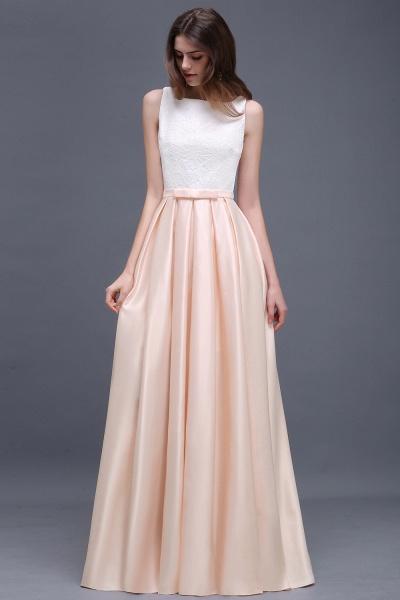 Lace A-line Floor Length Bridesmaid Dress_4