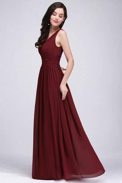 Wonderful V-neck Chiffon A-line Evening Dress_11