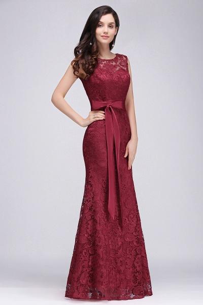 EDEN | Mermaid Sleeveless Floor-length Lace Prom Dresses with Ribbon Sash_5