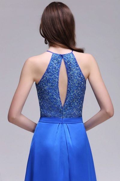 CALLIE | A-line Halter Neck Chiffon Royal Blue Prom Dresses with Sequins_6