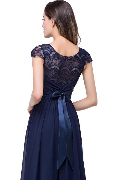 ELLEN   A-line Short Sleeves Chiffon Bridesmaid Dresses with Ribbon Bow_12