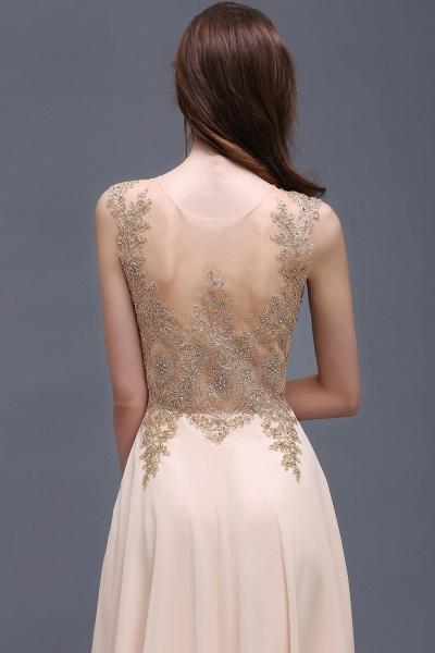 ALAYNA | Sheath Jewel Long Chiffon Evening Dresses With Applique_6