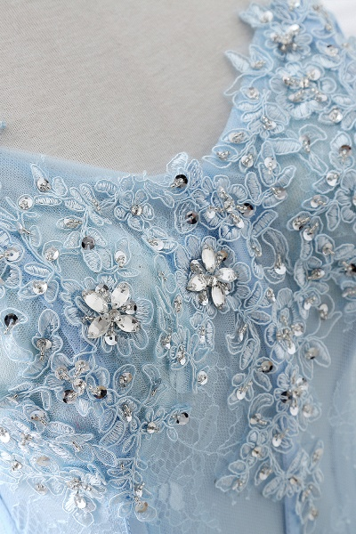 Graceful Strapless Organza Ball Gown Evening Dress_6