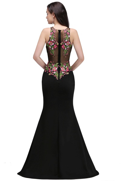 ELAINE | Mermaid Floor-length Sleeveless Prom Dresses with Embroidery-flowers_4