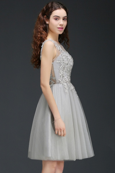 ANNA | A-line Short Modern Homecoming Dress With Lace Appliques_9