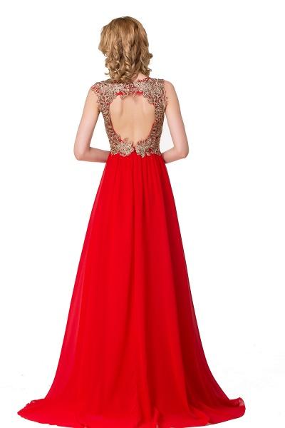 ESME | A-Line Floor-Length Sleeveless V-Neck Lace Appliques Prom Dresses_4