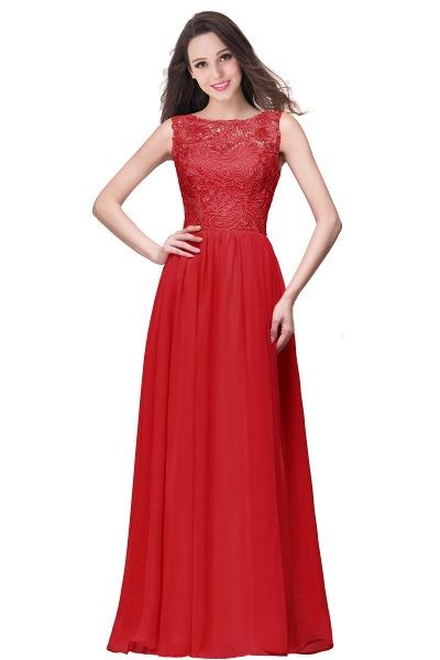 Fascinating Jewel Chiffon A-line Bridesmaid Dress_2