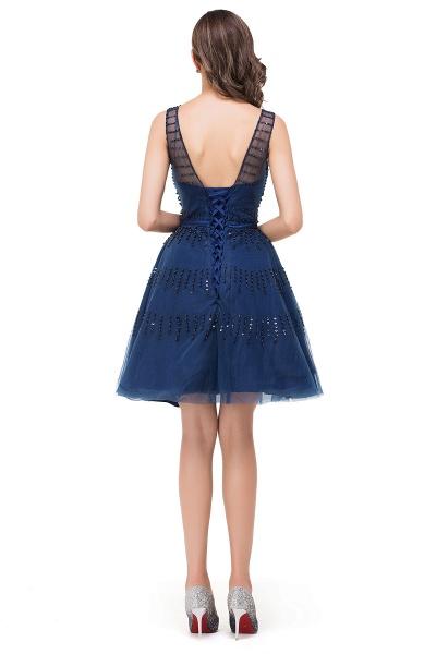 FATIMA | A-Line Sleeveless Crew Tulle Appliques Short Prom Dresses_3