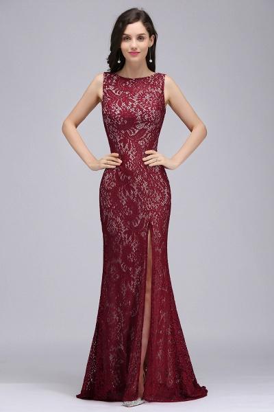 Modest Jewel Lace Mermaid Evening Dress_1
