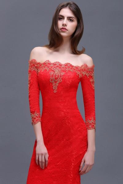 EMELIA | Mermaid Off-shoulder Floor-length Lace Appliques Prom Dresses_5