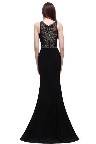 Wonderful Straps Chiffon Column Prom Dress_3