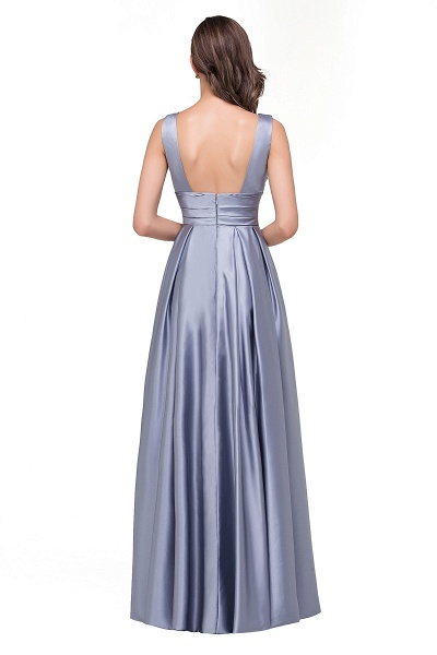 2017 Sexy Evening Gowns Deep V Neck Beaded Pageant Dresses_3