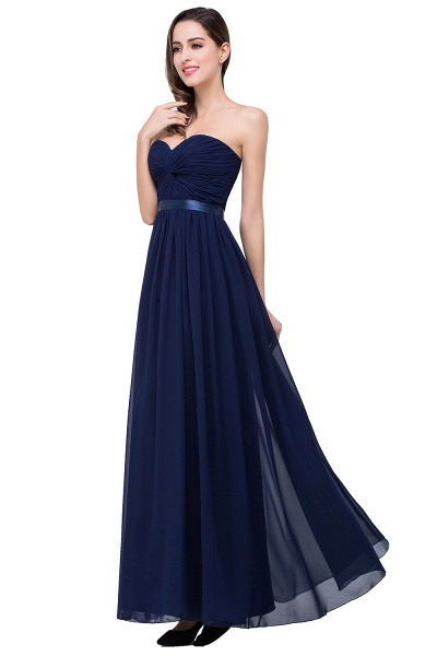 ADELINA | A-line Strapless Chiffon Bridesmaid Dress with Draped_8