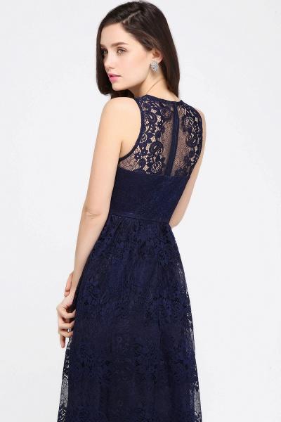 Amazing V-neck Lace Column Bridesmaid Dress_12