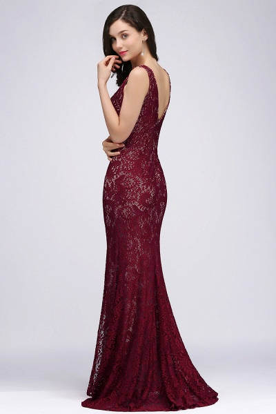 Modest Jewel Lace Mermaid Evening Dress_4