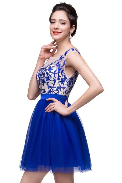 ELIZA | A-line Sleeveless Bateau Short Tulle Appliques Prom Dresses_8