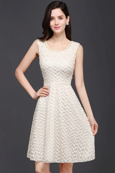 CHRISTINE | Princess Scoop neck Knee-length Lace Sexy Prom Dress_1