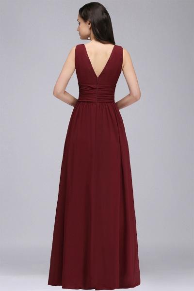 Wonderful V-neck Chiffon A-line Evening Dress_10