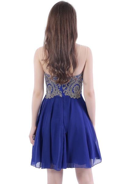 DAISY | Short Jewel Lace Chiffon Applique Prom Dresses_3