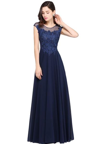 Modest Jewel Chiffon A-line Evening Dress_4