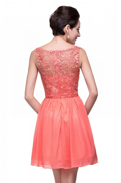 ELIANA | A-line Short Sleeveless Bateau Chiffon Ruffles Lace Top Prom Dresses_12