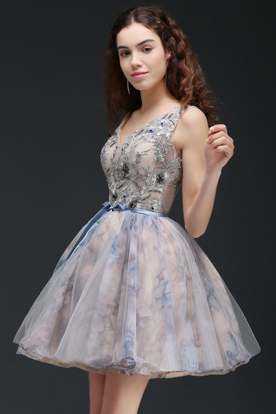 Wonderful Straps Satin A-line Homecoming Dress_6