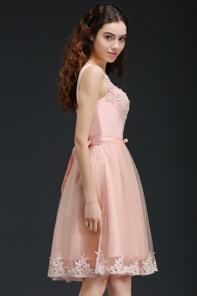 Best Straps Satin A-line Homecoming Dress_7