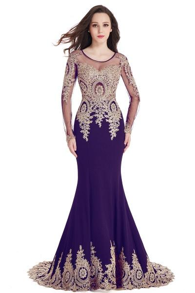 Beautiful Jewel Stretch Satin Mermaid Prom Dress_5