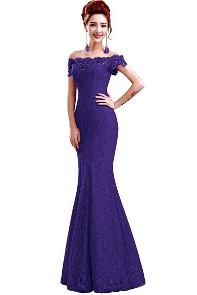 EMMALYNN | Mermaid Off Shoulder  Floor-Length Lace Bridesmaid Dresses_8