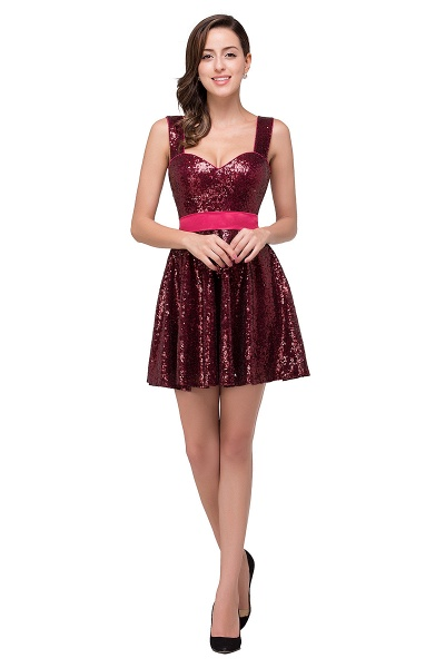 Excellent Sequined A-line Homecoming Dress_4
