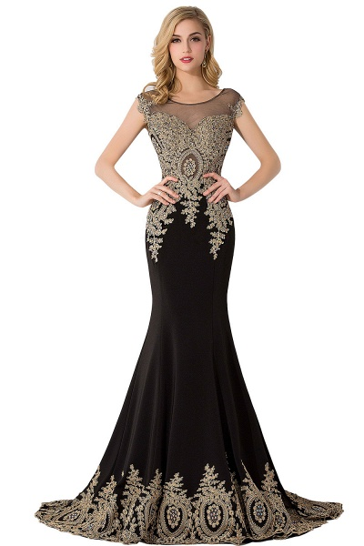 Graceful Jewel Chiffon Mermaid Prom Dress_5