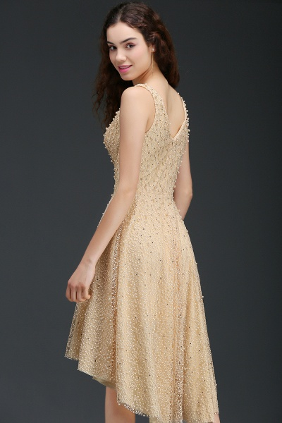 Attractive Straps Satin A-line Homecoming Dress_5