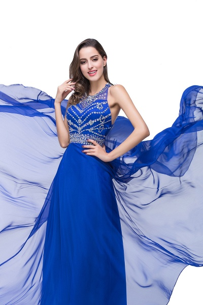 Eye-catching Jewel Tulle A-line Evening Dress_11