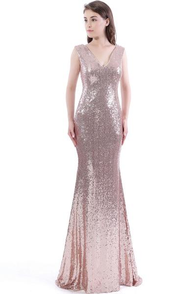 DAKOTA | Mermaid Floor Length V-Neck Long Sequins Prom Dresses_1