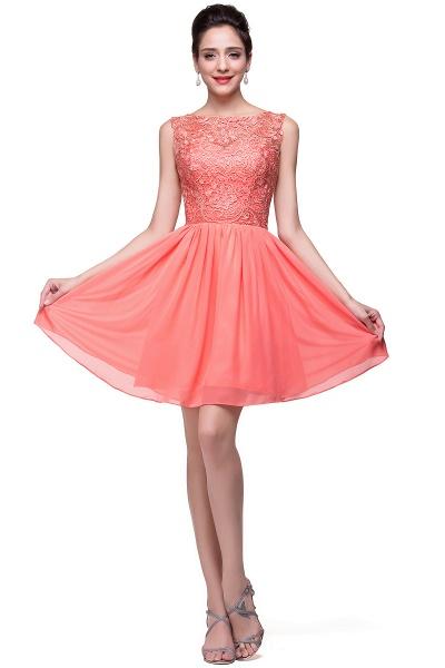 ELIANA | A-line Short Sleeveless Bateau Chiffon Ruffles Lace Top Prom Dresses_16