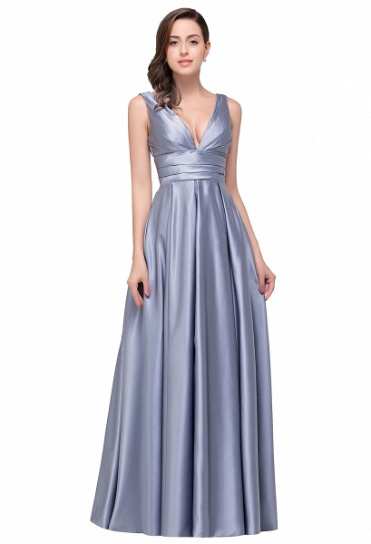 2017 Sexy Evening Gowns Deep V Neck Beaded Pageant Dresses_2