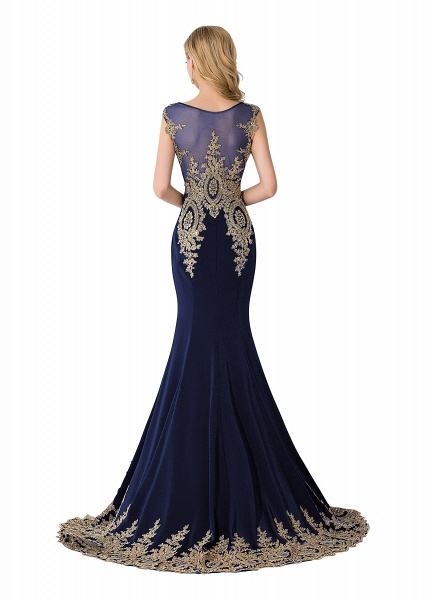 Graceful Jewel Chiffon Mermaid Prom Dress_4