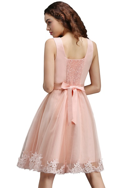 Best Straps Satin A-line Homecoming Dress_3