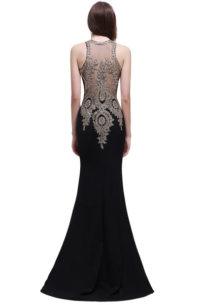 Modest Jewel Chiffon Mermaid Prom Dress_6