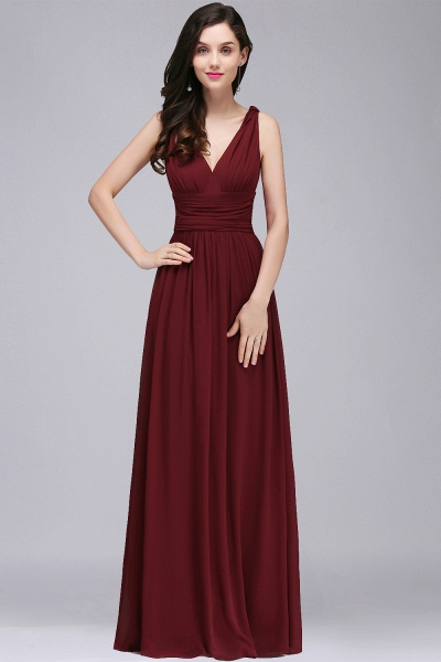 Wonderful V-neck Chiffon A-line Evening Dress_6
