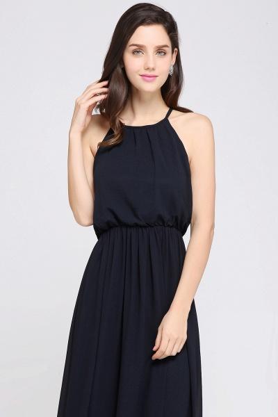CHEYENNE | A-line Floor-length Chiffon Navy Blue Simple Prom Dress_16