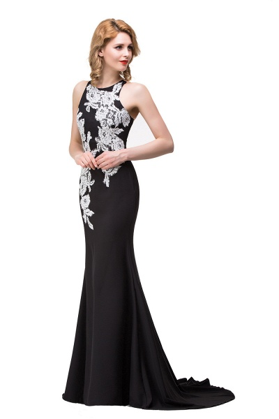 ERIN   Mermaid Crew Sleeveless Floor-Length Prom Dresses With Appliques_8