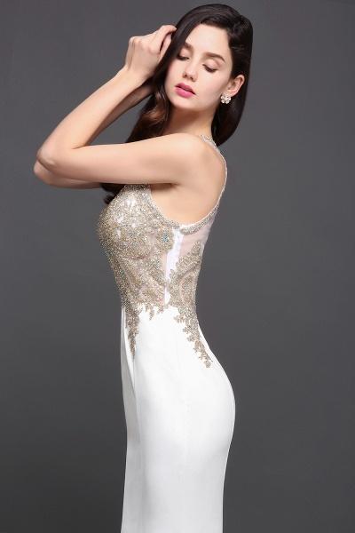 Fascinating Scoop Chiffon Mermaid Prom Dress_5