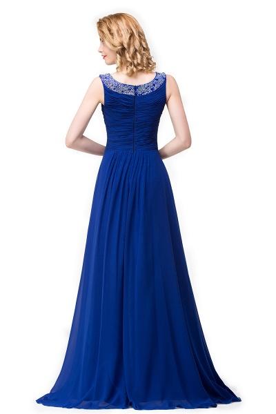 Excellent Bateau Chiffon A-line Evening Dress_5