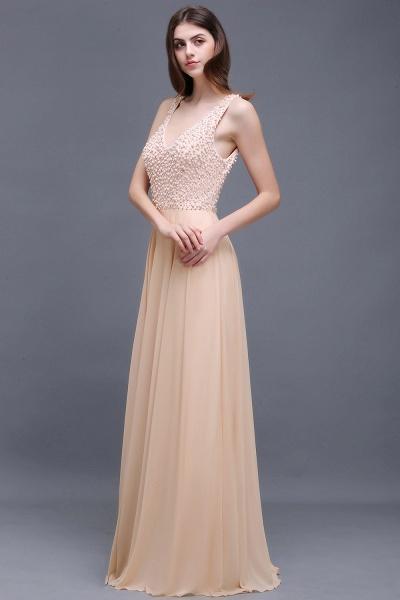 ALANA | Sheath Sheer Chiffon Long Evening Dresses With Pearls_2