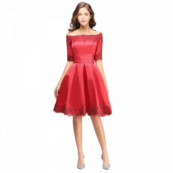 Chic Off-the-shoulder A-line Homecoming Dress_2