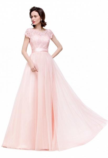 ELLIANA | A-line Short Sleeve Chiffon Bridesmaid Dresses with Ribbon Bow Sash_14