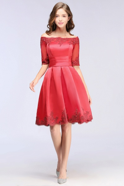 Chic Off-the-shoulder A-line Homecoming Dress_6